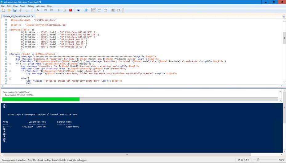 Automating HP SoftPaq Repository Updates Using PowerShell – Ryan's